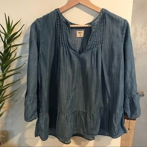 GAP - Chambray Blouse w/ Bell Sleeves